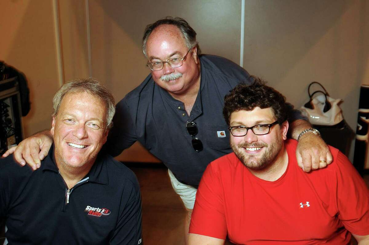 Rich Lord, from left, the Chronicle's John McClain and Josh Innes at the Tristar Collectors Show in, 2013. Now Innes will go head-to-head with Lord on sports radio.