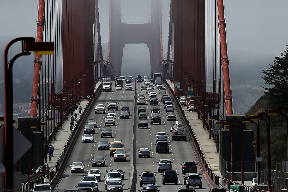 Seven people needed hospitalization after a car crash near the Golden Gate Bridge.