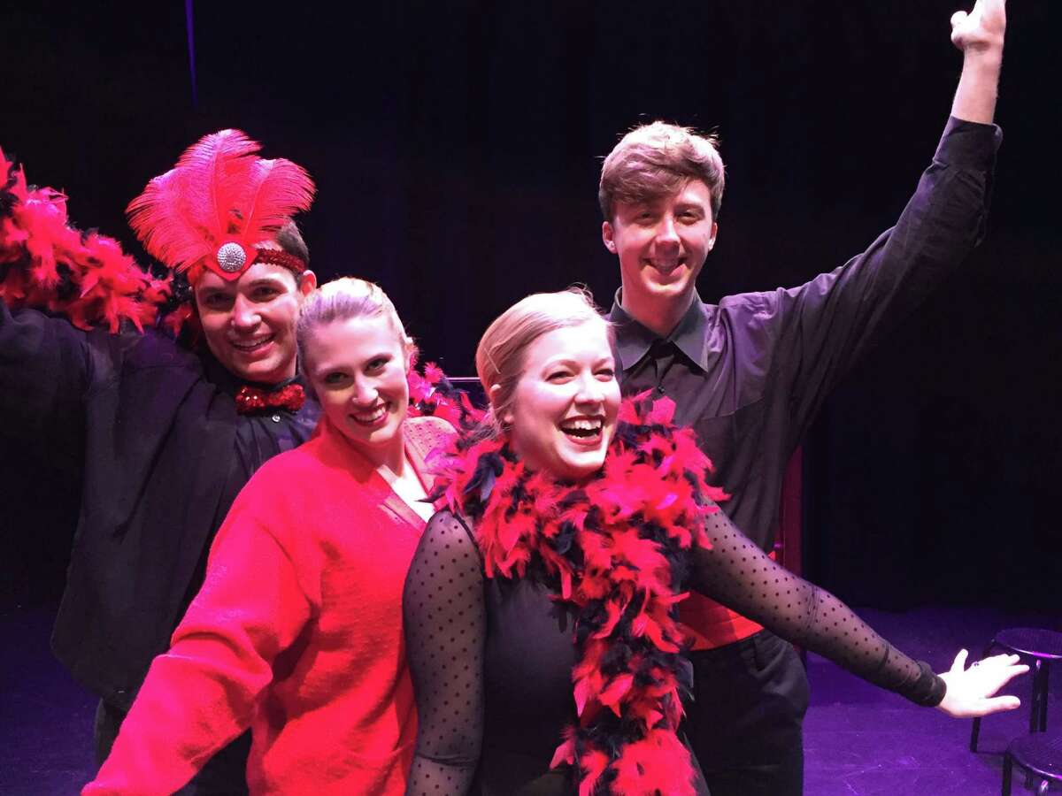 """Ryan Smith, from left, Haley Hussey, Shelby Fisher and Joseph Reed star in """"The Musical of Musicals."""""""