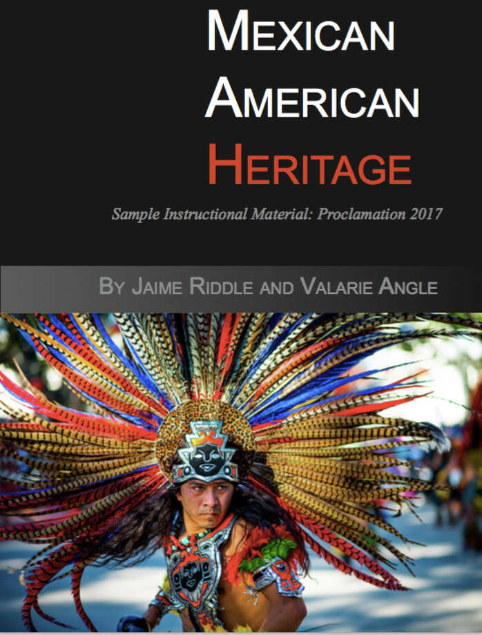 """The controversial textbook, """"Mexican American Heritage,"""" was published by Momentum Instruction, a company headed by former SBOE member Cynthia Dunbar."""