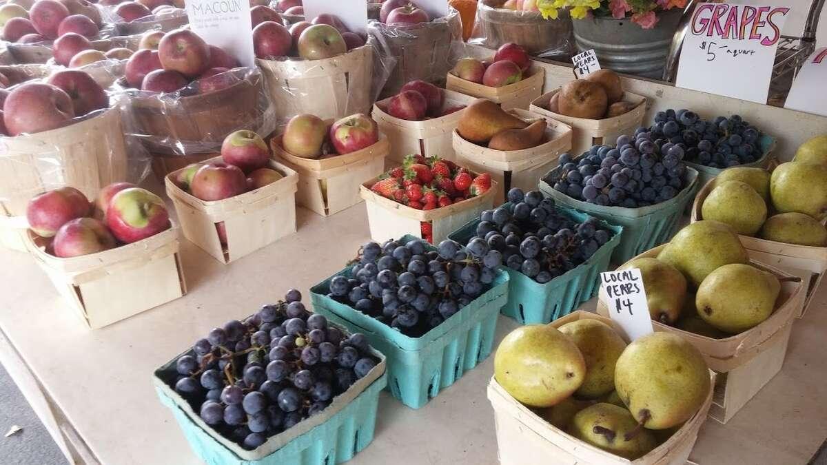 Fall fruits on display.