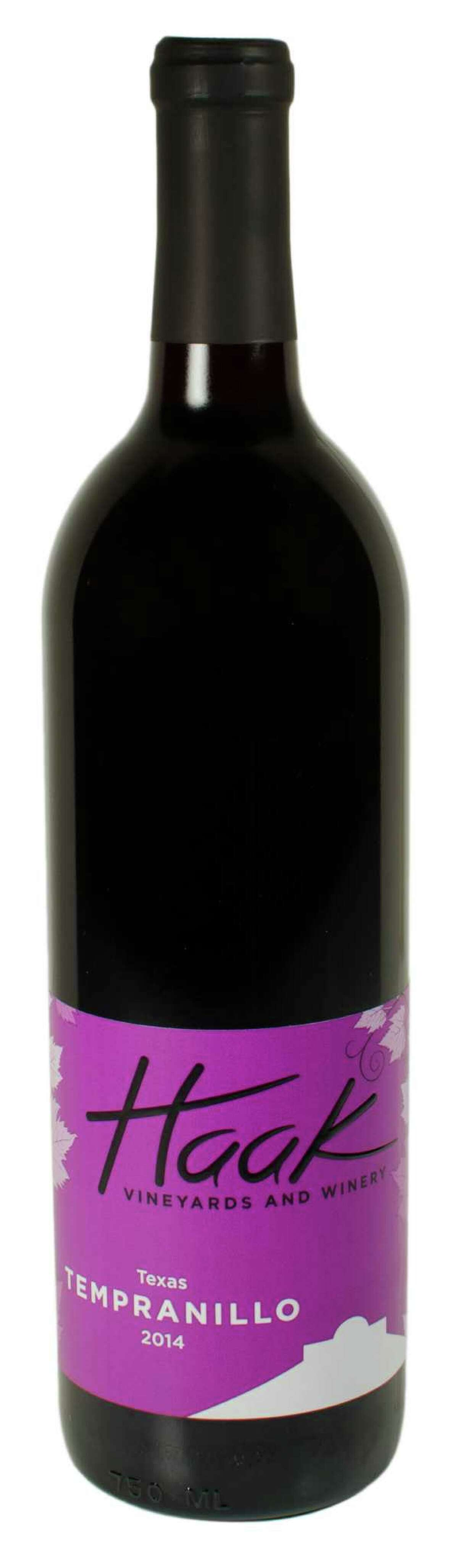 2014 Haak Vineyards Texas High Plains Tempranillo, Reddy Vineyard