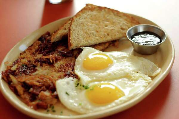 Snooze's Corned Beef Hash is a bit salty but not bad.