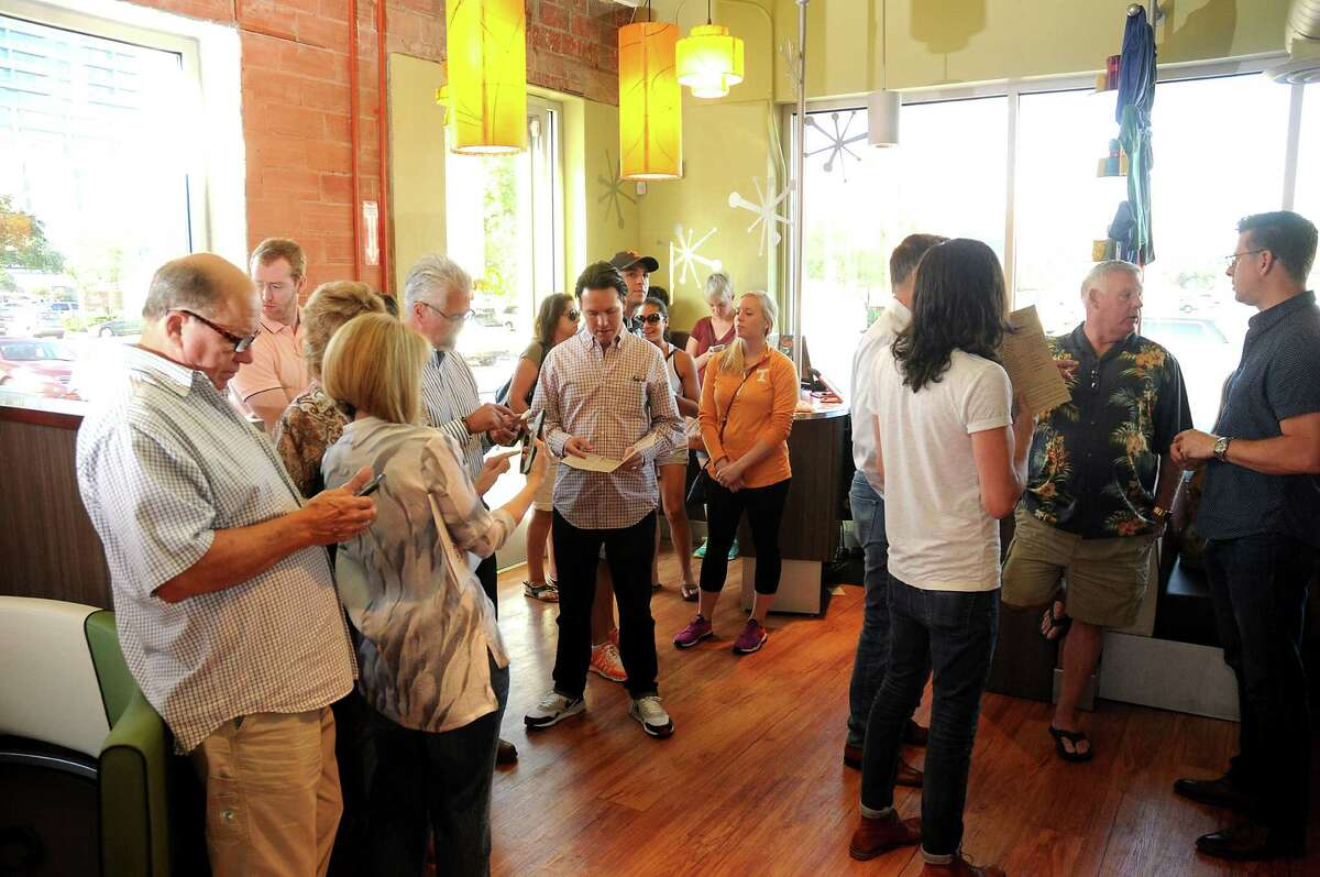 Guests wait for a table at Snooze on Montrose.