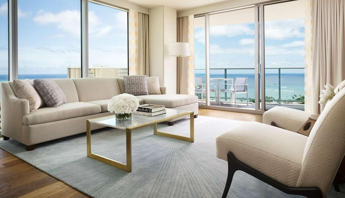 Bedrooms at the Ritz-Carlton Waikiki