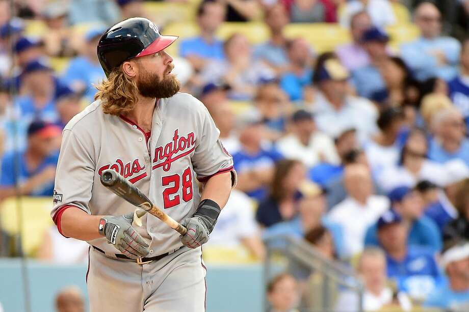 Jayson Werth hit a solo home run to lead off the ninth, kick-starting a four-run inning that has the Dodgers facing elimination. Photo: Harry How, Getty Images