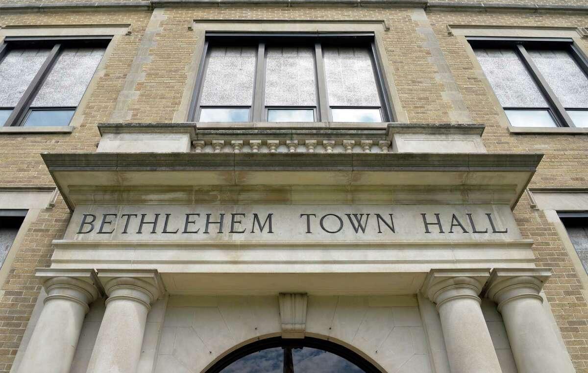 Entrance to Bethlehem Town Hall on Delaware Ave. Thursday June 5, 2014, in Bethlehem, NY. (John Carl D'Annibale / Times Union)