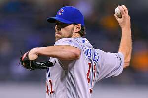 PITTSBURGH, PA - SEPTEMBER 27:  John Lackey #41 of the Chicago Cubs pitches during the first inning against the Pittsburgh Pirates on September 27, 2016 at PNC Park in Pittsburgh, Pennsylvania.  (Photo by Joe Sargent/Getty Images)