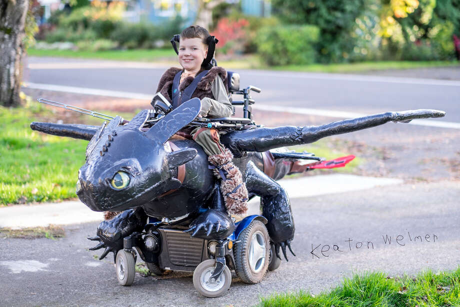 Ryan and Lana Weimer, founders of Magic Wheelchair, partner with various organizations to create epic Halloween costumes for children in wheelchairs. Photo: Magic Wheelchair