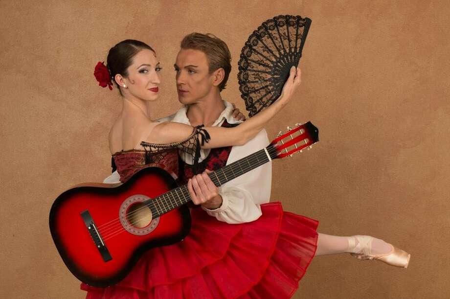 "Ballet San Antonio principal dancers Sally Turkel (Kitri) and Ian Morris (Gamache) strike a pose from ""Don Quixote,"" the company's 2016-'17 season opener. Photo: Courtesy Alexander Devora"