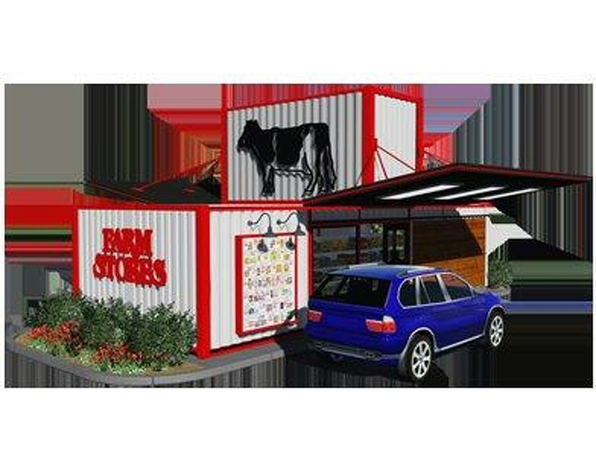 A rendering of a Farm Stores drive-thru convenience store set to open in Katy in first quarter 2017.