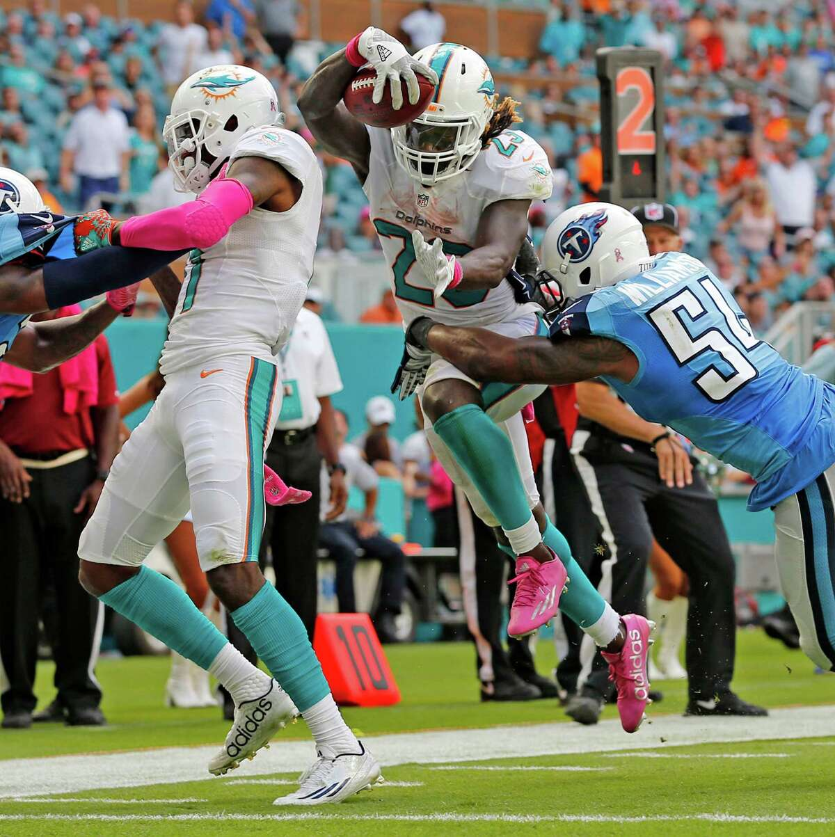 30. Miami 1-4 | Last week: 26 The Dolphins are struggling in Adam Gase's first season as coach. If not for an overtime victory over Cleveland, they'd be winless.