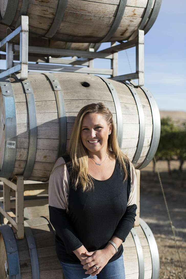 Heather McGrail poses for a portrait at her family's winery McGrail Vineyards in Livermore, Calif., on Friday, October 7, 2016.
