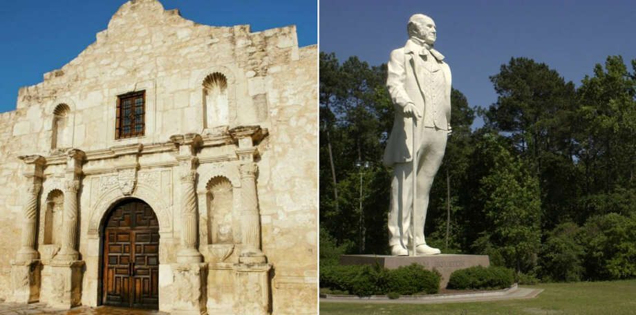 "Lyric: ""Gunpowder in the Alamo wall""Texas ranking: 10 / 10Yes the Alamo is the mightiest landmark in all of Texas history, but Texas has other historical landmarks that are grand in scale, like the larger-than-life statue of Sam Houston in Huntsville. Photo: Houston Chronicle Staff"