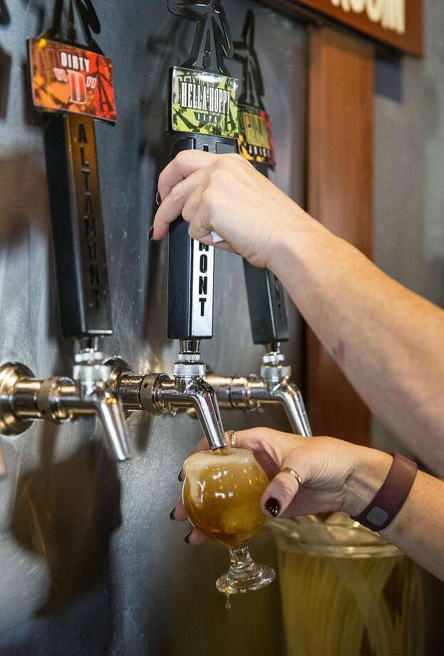 A beer is poured at Altamont Beer Works, a Livermore brewery on the Tri-Valley Beer Trail. Photo: Laura Morton, Special To The Chronicle