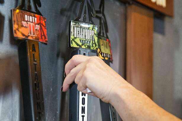 """A beer is poured at the brewery Altamont Beer Works, which is part of the �Tri-Valley Beer Trail,"""" in Livermore, Calif., on Saturday, October 8, 2016. The area is becoming known for it's craft beer in addition to the area's wine."""