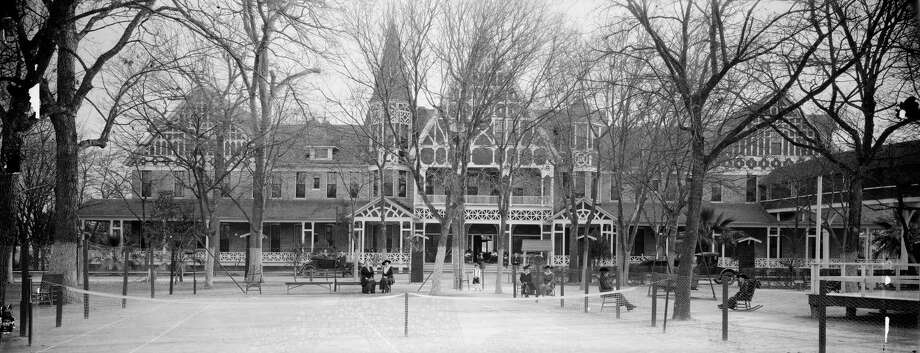 This panoramic picture of the Hot Wells Hotel, circa 1917, by an unknown photographer is one of the newly digitized images from the E.O. Goldbeck papers and photography collection at the Harry Ransom Center. Photo: Courtesy Harry Ransom Center