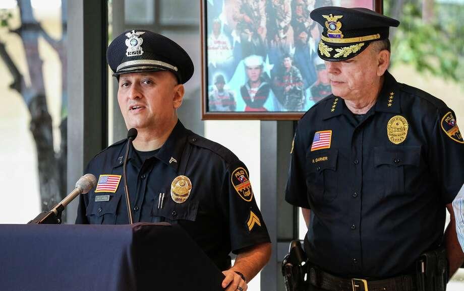 Investigator Joe E. Baeza, LPD spokesman, left, is pictured. Photo: Victor Strife/Laredo Morning Times