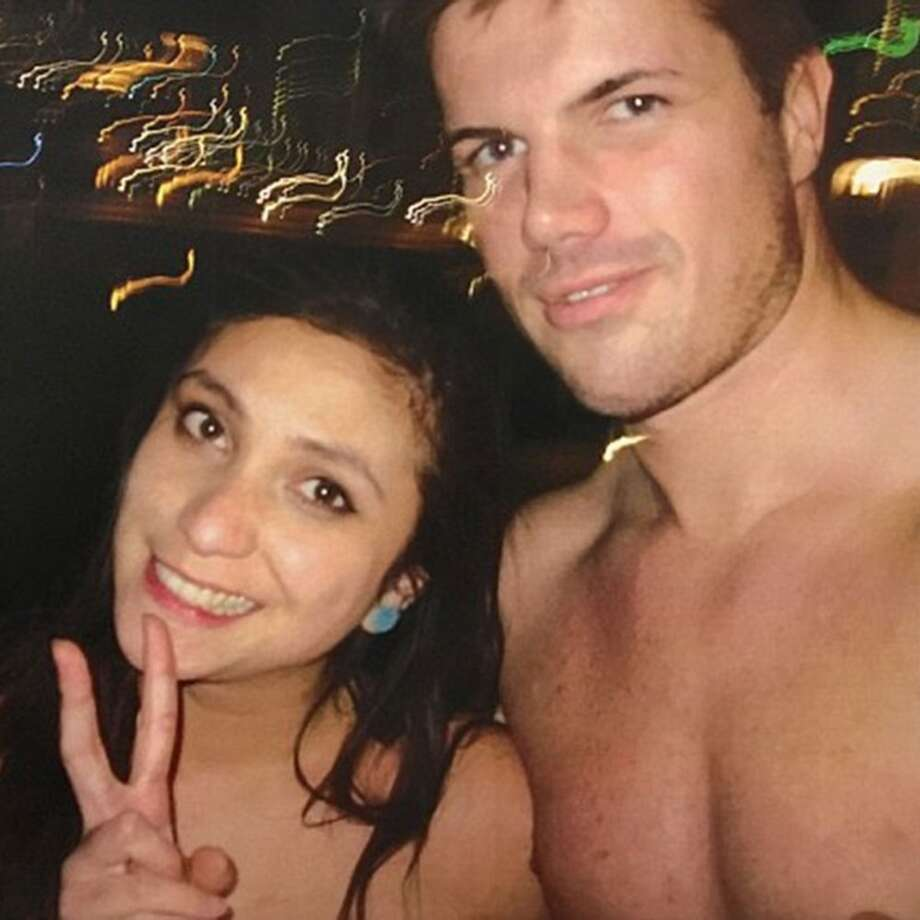 Photos of Warriena Wright and Gable Tostee taken shortly before she died show Wright going from happy and smiling, to stoic and uncomfortable. Photo: Queensland Supreme Court