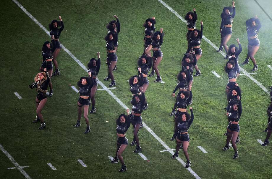 The Black Panthers' bold demonstrations in the 1960s were reflected in Beyonce's alluring halftime performance during Super Bowl 50 in February.  Photo: Harry How, Getty Images