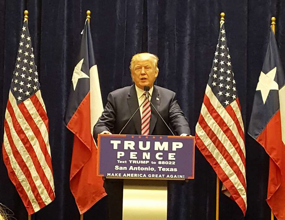 Republican presidential nominee Donald Trump speaks at a fundraising event in San Antonio on Tuesday, Oct. 11, 2016. Photo: Robert Stovall/courtesy