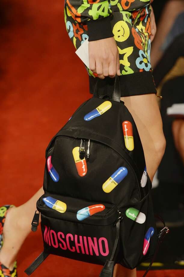 MILAN, ITALY - SEPTEMBER 22:  Accessories bag detail on the runway at the Moschino Spring Summer 2017 fashion show during Milan Fashion Week on September 22, 2016 in Milan, Italy.  (Photo by Catwalking/Getty Images) Photo: Catwalking/Getty Images