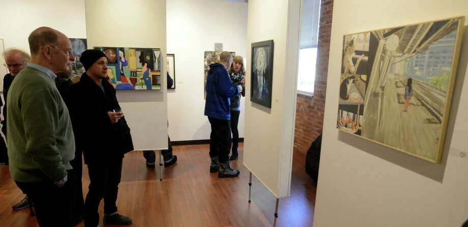 The Loft Artists Association will hold its annual Open Studios next month at its Pacific Street headquarters. The three-day event will feature 35 artists. Photo: Matthew Brown / Hearst Connecticut Media / Stamford Advocate