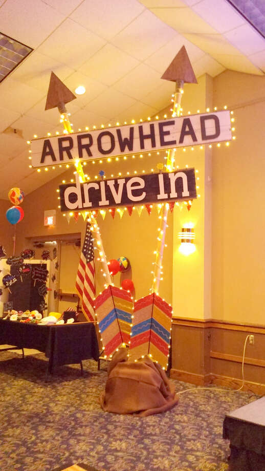 Courtesy Photo The sign from the Arrowhead Drive-In, a popular teenage handout during the late 1968 into the late 1970s, was recreated for the Class of 1971 reunion.