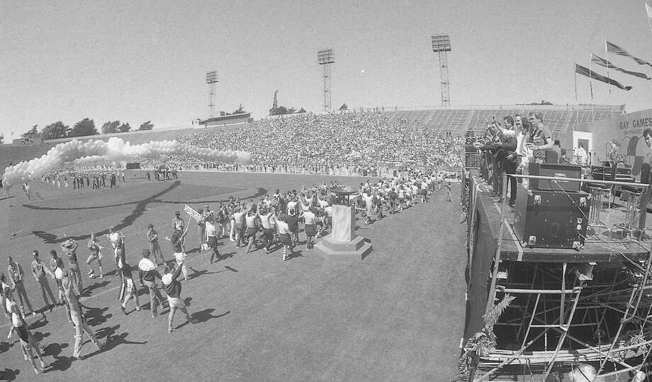 First Gay Games in San Francisco Opening ceremony on Aug. 22, 1982. Photo: Chris Stewart, The Chronicle