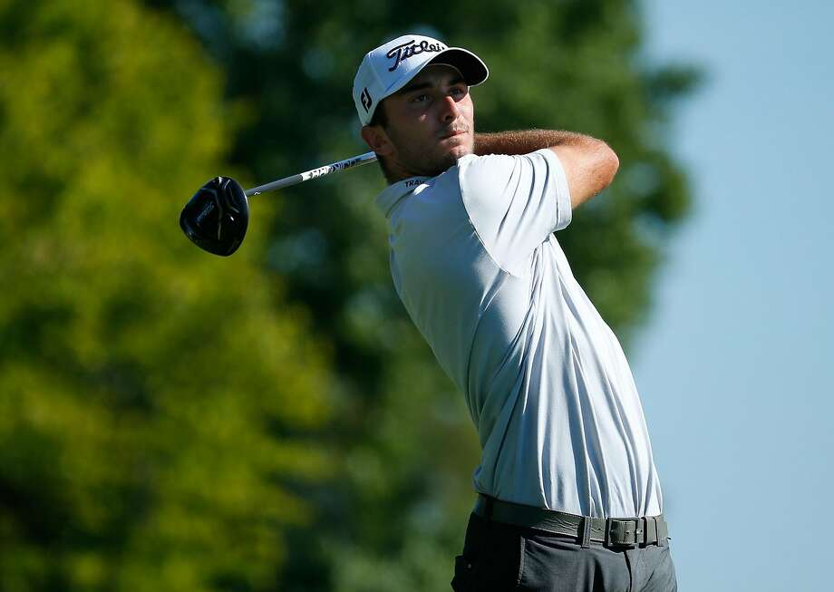 Max Homa, shown teeing off at a Web.com Tour event in Ohio last month, was a direct beneficiary of Tiger Woods' withdrawal, receiving a spot in the Safeway Open at Silverado. Photo: Gregory Shamus, Getty Images
