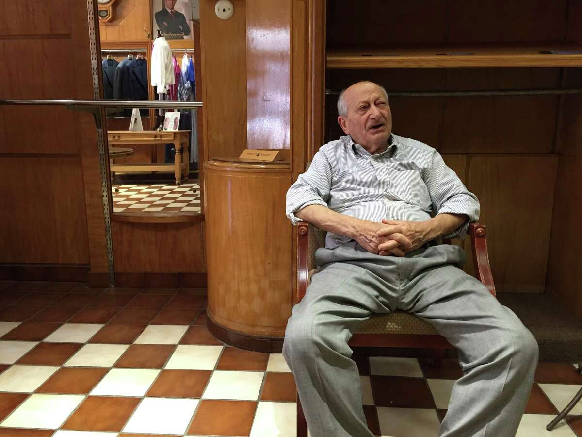"""Angelo """"Joe"""" Amore, an Albany tailor who for years fashioned suits at his shop on State Street, died Tuesday. (Paul Grondahl / Times Union)"""