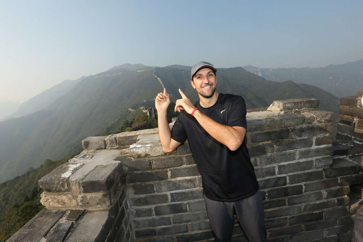 The Rockets' Ryan Anderson was as dazzled on this week's second visit to the Great Wall of China as he was on his first trip with the Pelicans.