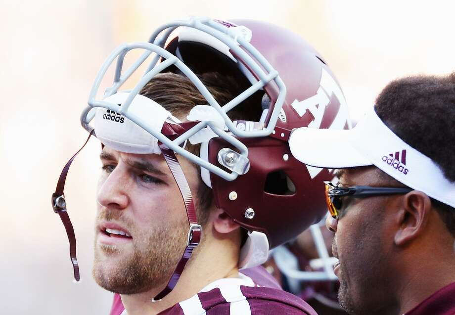 Trevor Knight of the Texas A&M Aggies waits with head coach Kevin Sumlin on the sideline in the second half against the Tennessee Volunteers at Kyle Field on Oct. 8, 2016 in College Station. Photo: Scott Halleran /Getty Images / 2016 Getty Images