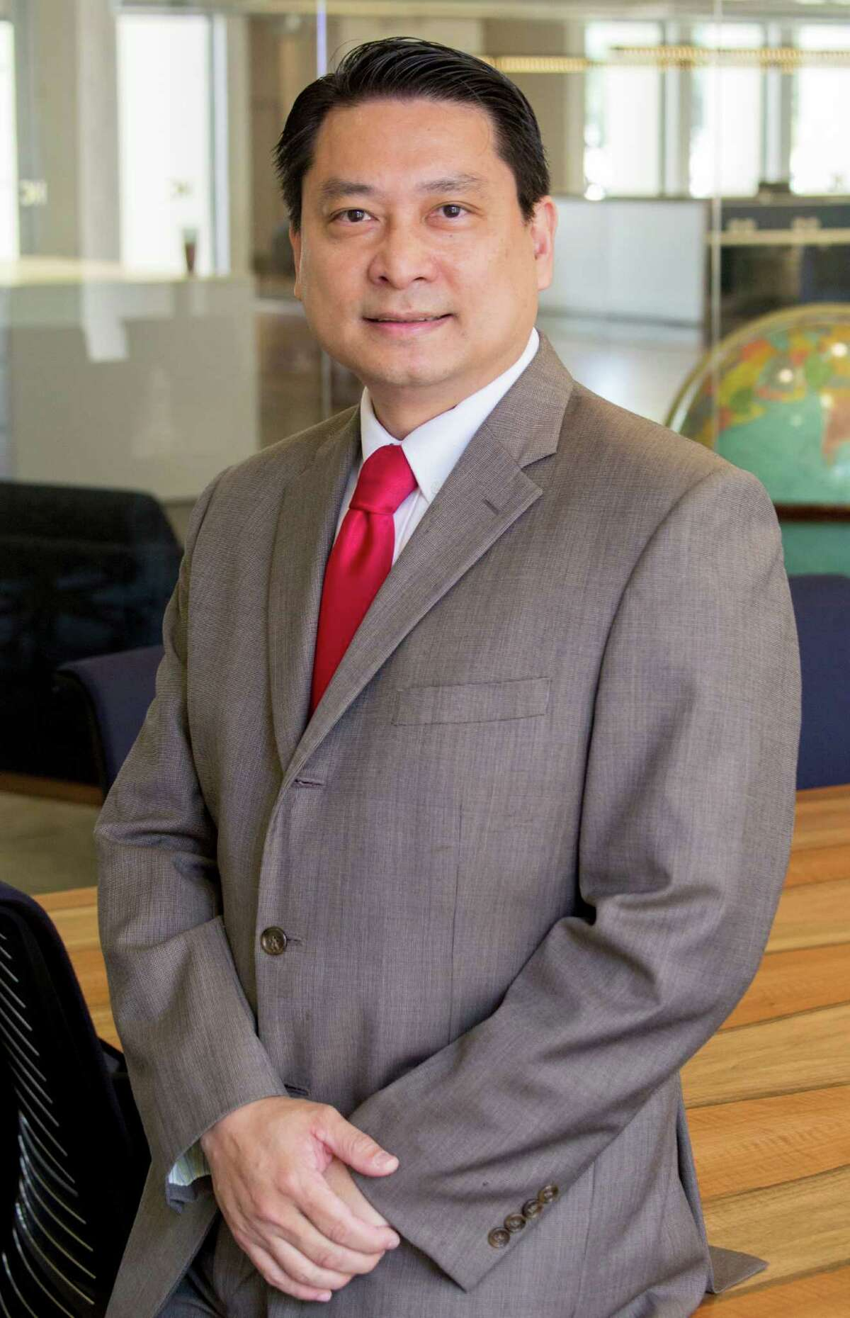 Bryan Chu is a candidate for Texas House of Representatives, District 149 shown Thursday August 25, 2016. (JeremyCarter/ Houston Chronicle) 00068544A