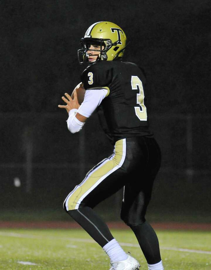 Trumbull senior quarterback John McElroy has been one of the FCIAC's steadiest passers this season.McElroy and the Eagles travel to Greenwich on Saturday. Photo: Gregory Vasil / For Hearst Connecticut Media / Connecticut Post Freelance