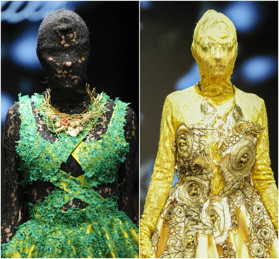 >> THE SCARIEST MASKS: Keep clicking to view more photos from this creepy fashion show.  Photo: Getty Images