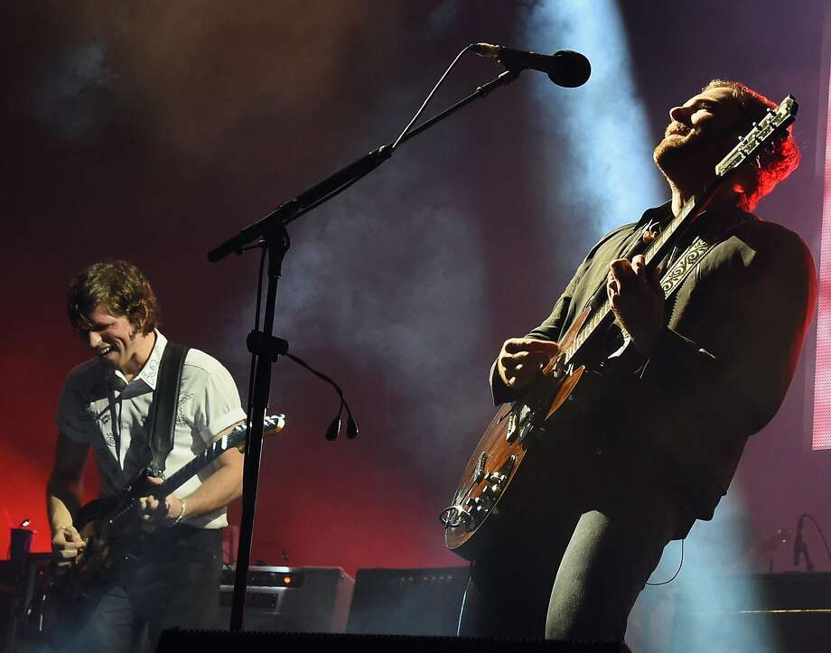 NASHVILLE, TN - OCTOBER 06:  Matthew Followill and Caleb Followill of Kings Of Leon perform during there Album Release concert at Ascend Amphitheater on October 6, 2016 in Nashville, Tennessee.  (Photo by Rick Diamond/Getty Images) Photo: Rick Diamond, Getty Images