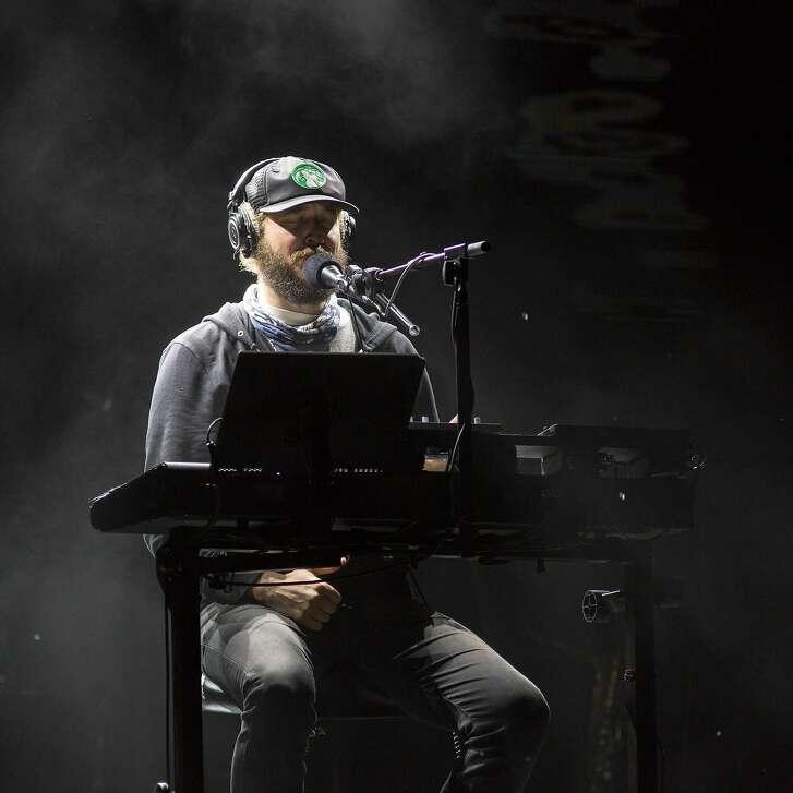 Justin Vernon of Bon Iver performs Aug. 12, 2016 at the Eaux Claires Music Festival in Eau Claire, Wis. (Daniel DeSlover/Zuma Press/TNS)