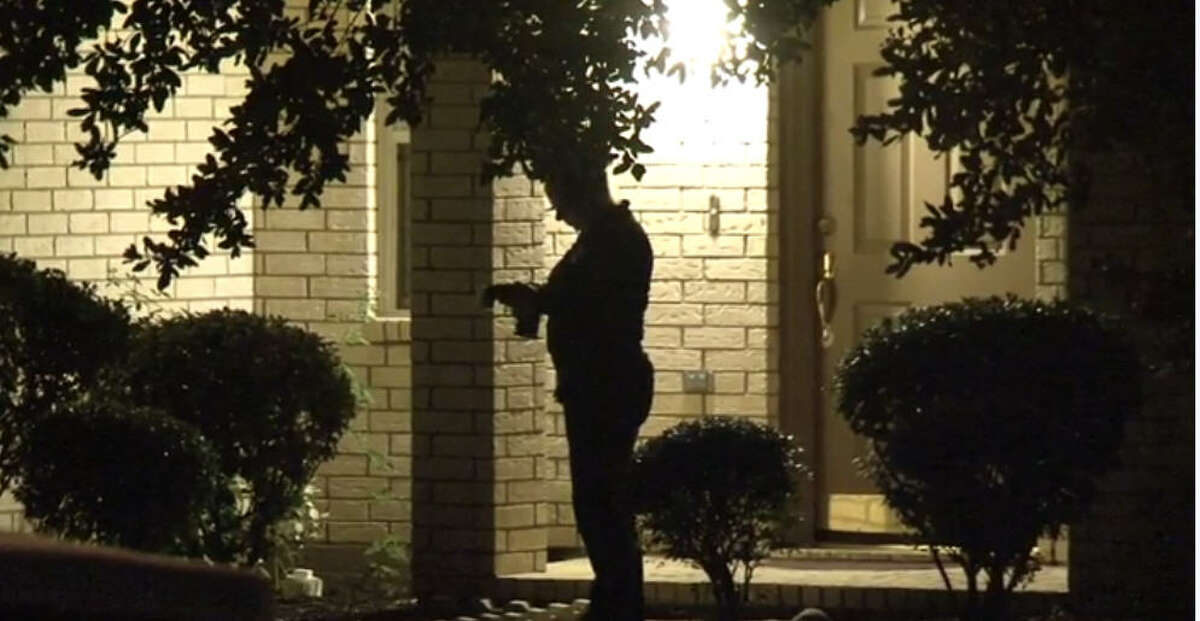 An 8-year-old boy hid in a closet and was unhurt during a shooting that left two people dead and another wounded about 9 p.m. Tuesday, Oct. 11, 2016, at a home in the 2200 block of Aliso Canyon Lane in the Richmond area of Fort Bend County. (Metro Video)