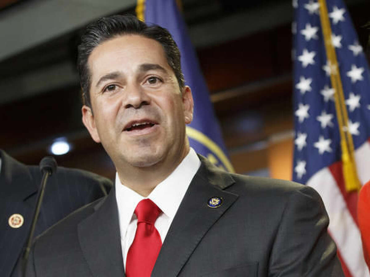 FILE - In this Nov. 17, 2014 file photo, Rep. Ben Ray Lujan, D-N.M. speaks during a news conference on Capitol Hill in Washington.