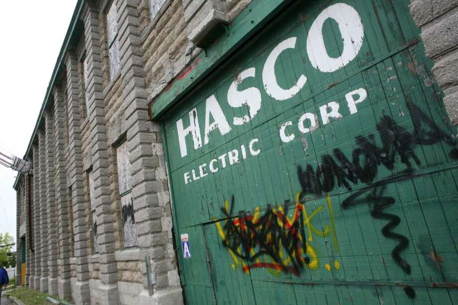 The abandoned Hasco Electric Company building on South Water Street in Byram as seen on Tuesday afternoon. Photo: David Ames, David Ames/For Greenwich Time / Greenwich Time