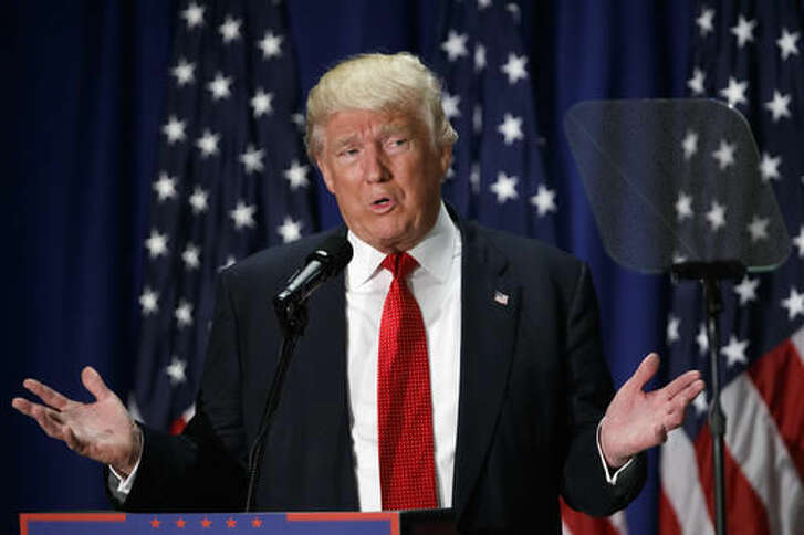 Republican presidential candidate Donald Trump speaks about school choice, Thursday, Sept. 8, 2016, at Cleveland Arts and Social Sciences Academy in Cleveland. (AP Photo/Evan Vucci)