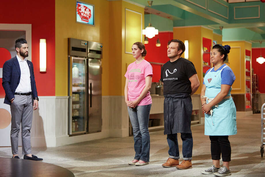 From left, host Josh Elkin is pictured with Kara Zummer, David Buehrer and Kristianna Zabala in this photo courtesy the Cooking Channel. / Jeremy Kohm