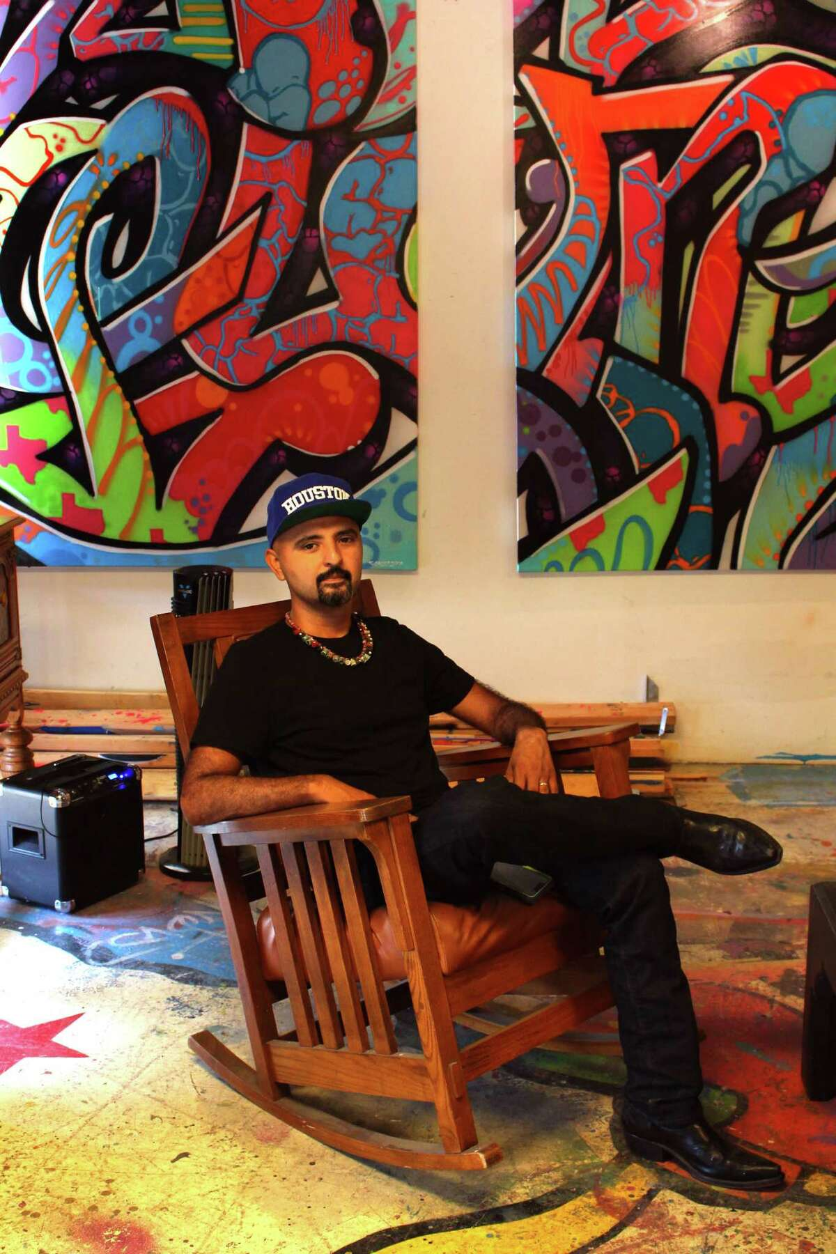 Houston artist and muralist Mario Figueroa Jr. is known in the art world as Gonzo247.