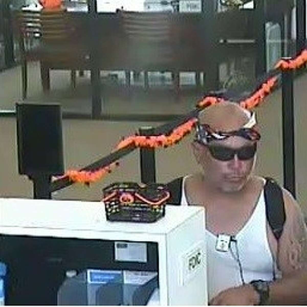 Authorities are searching for a man suspected of robbing a Wells Fargo Bank about 12:15 p.m. Tuesday, Oct. 11, 2016, at 4010 South Braeswood in southwest Houston. (FBI)