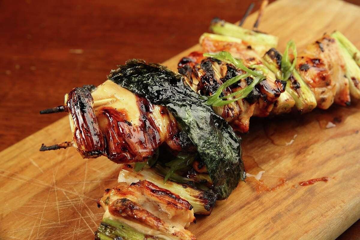 Restaurateur Piran Esfahani plans to open a new restaurant, Nao Ramen House, in the former 55 Bar & Restaurant in Rice Village. Shown: Chicken Yakitori.