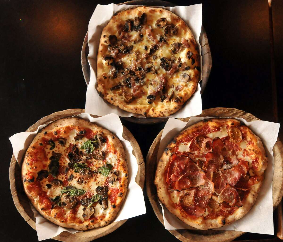 A selection of pies from Dough Pizzeria Napoletana.