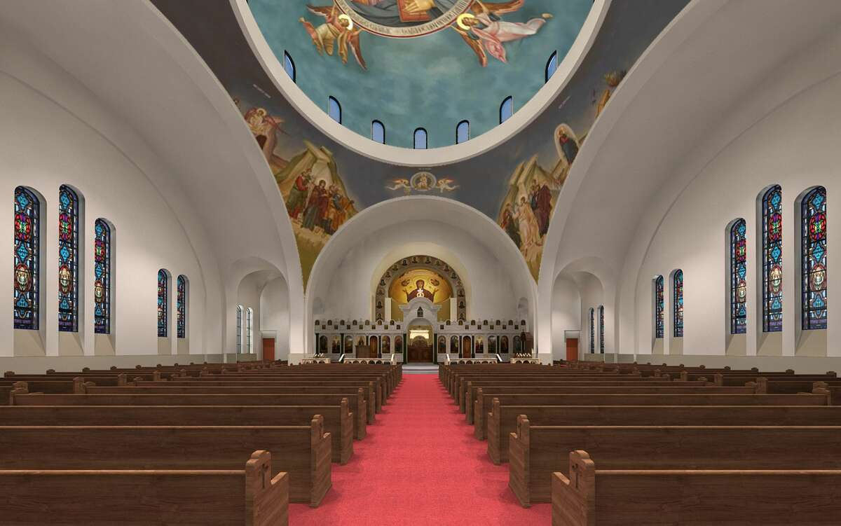 Future expansion plans for the Annunciation Greek Orthodox Cathedral in Montrose Houstonians recently got a chance to see renderings of future expansion plans for the Annunciation Greek Orthodox Cathedral in Montrose. Plans for church expansions show off an even larger golden dome - in addition to the smaller one seen now -- and also include a larger sanctuary that doubles the current seating capacity. New trees and lighting also appear in the renderings.
