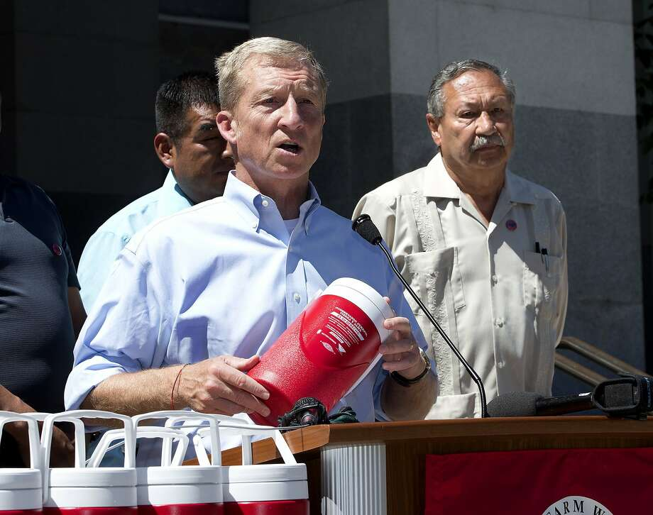 "San Francisco philanthropist Tom Steyer, left, tweets that ""an attack from low-energy Donald Trump is a compliment."" Photo: Rich Pedroncelli, Associated Press"