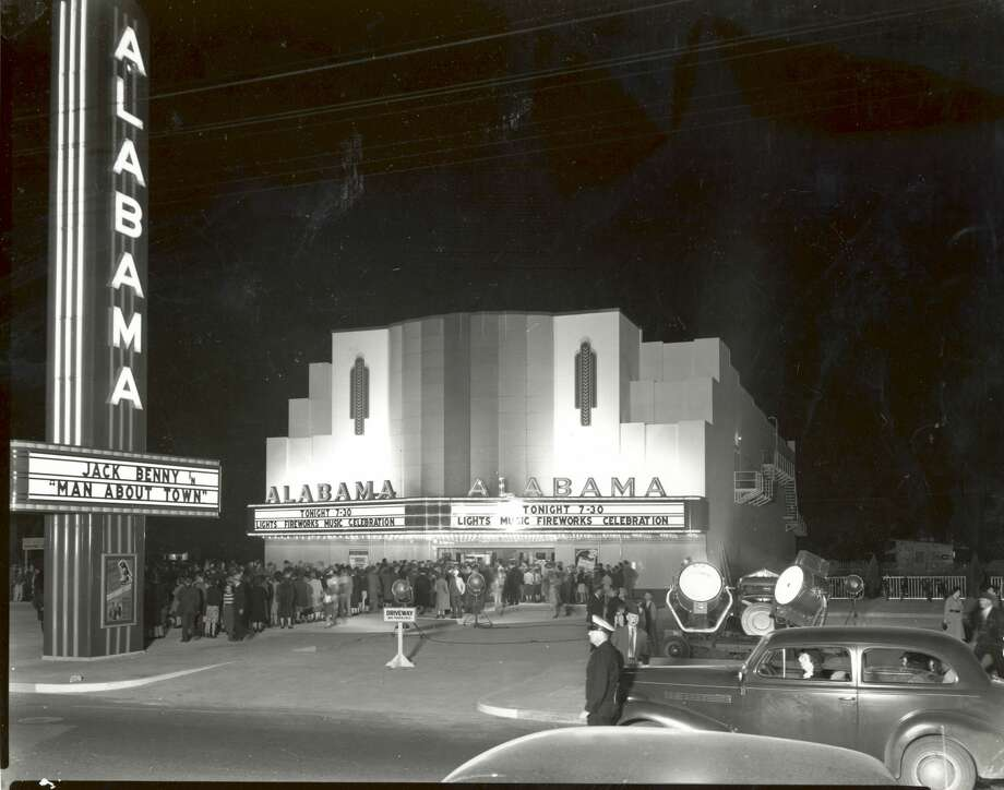 See more shots from Bob Bailey Studios from the Houston Chronicle archives...The Alabama Theatre in 1939, which you all know better now as Trader Joe's, and Bookstop before that.Click through for more Bob Bailey goodness.... Photo: Bob Bailey Studio, Inc.